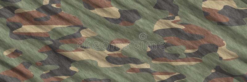 无缝的例证 纺织品伪装样式摘要 向量例证
