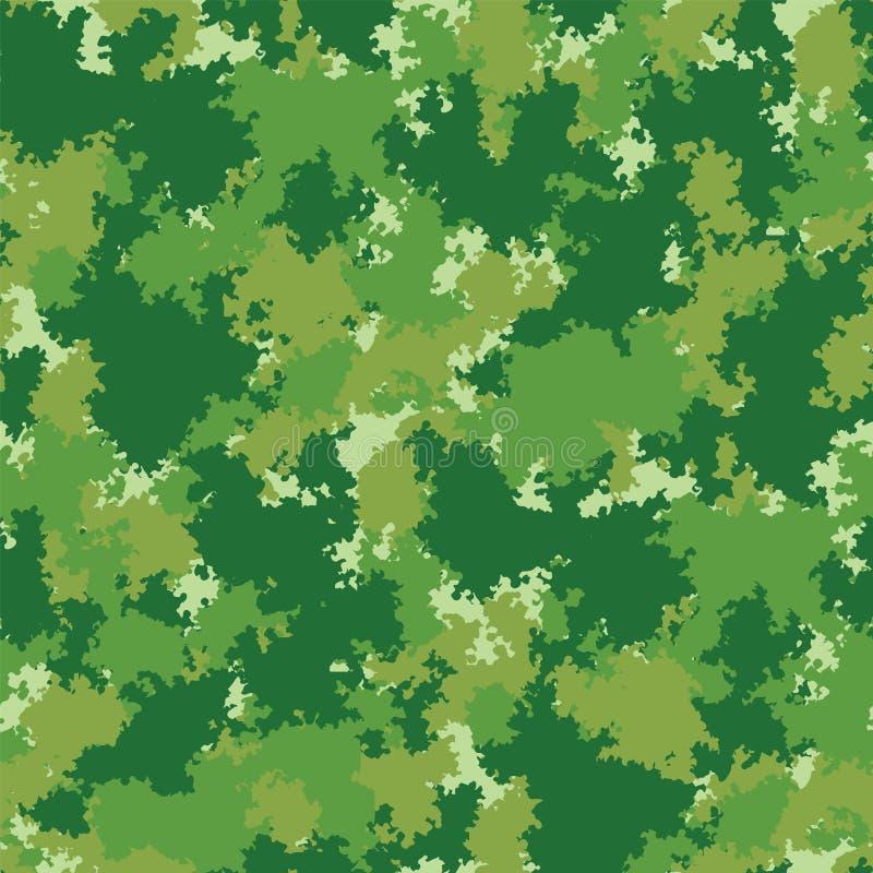 Camo Färgrik kamouflagevektormodell Sömlös grungekamouflagemodell royaltyfri illustrationer