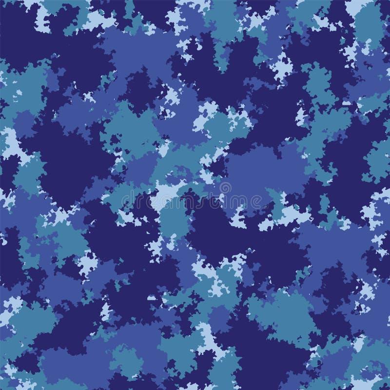 Camo Kleurrijk camouflage vectorpatroon Het naadloze patroon van de grungecamouflage royalty-vrije illustratie