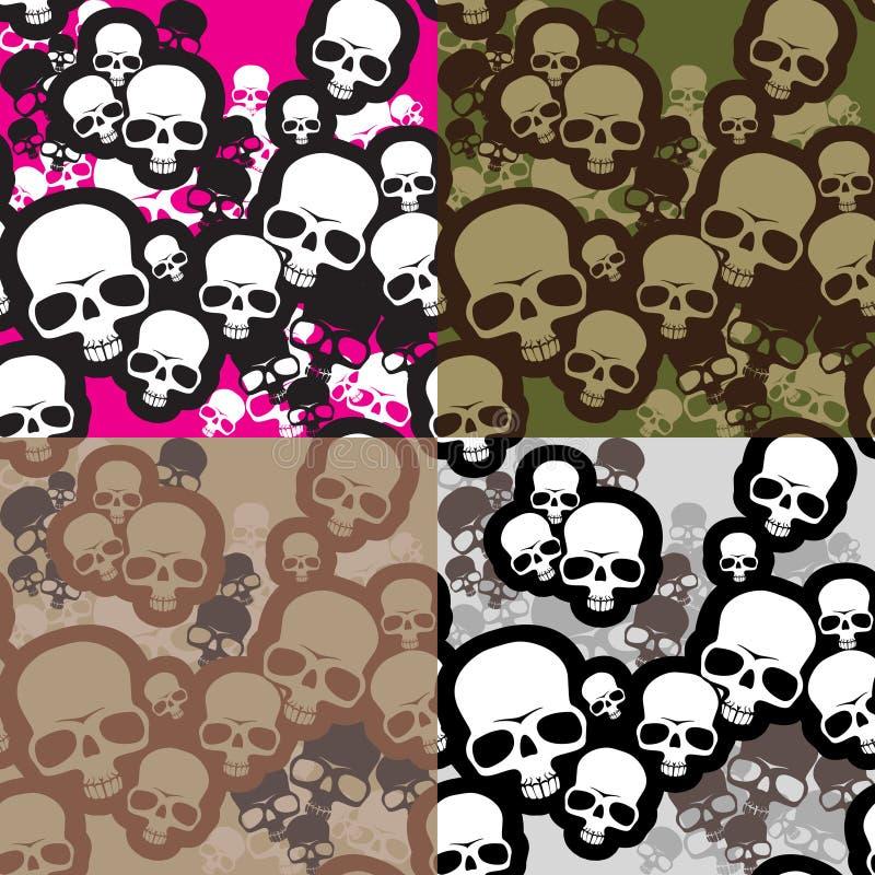 Camo van schedels stock illustratie