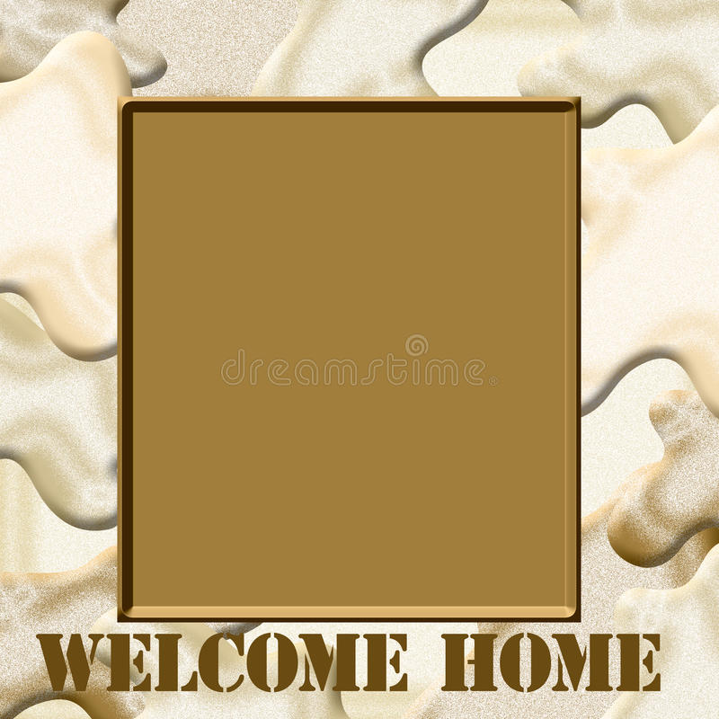 Free Camo Welcome Home Royalty Free Stock Photos - 23476788