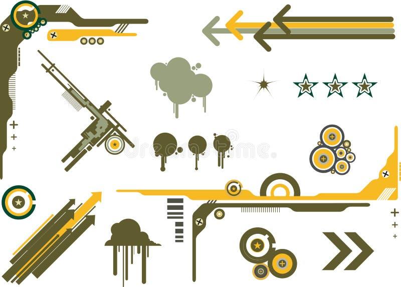 camoelementdiagram royaltyfri illustrationer