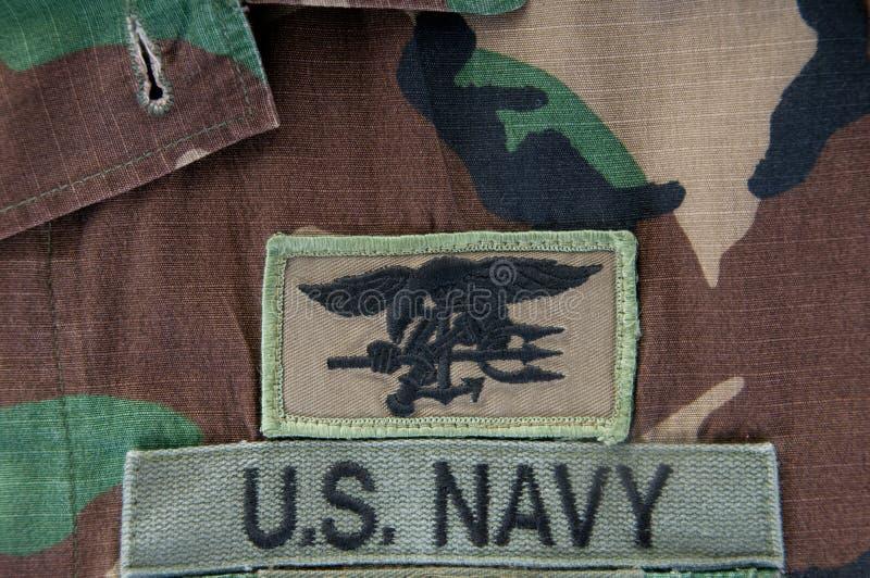 camoflauge marynarki wojennej foki trójząb zdjęcia royalty free