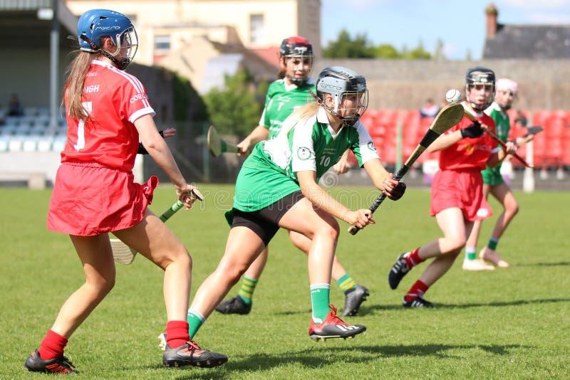 Camogie Junior Championship Semi Final - Limerick contre le li?ge photo libre de droits