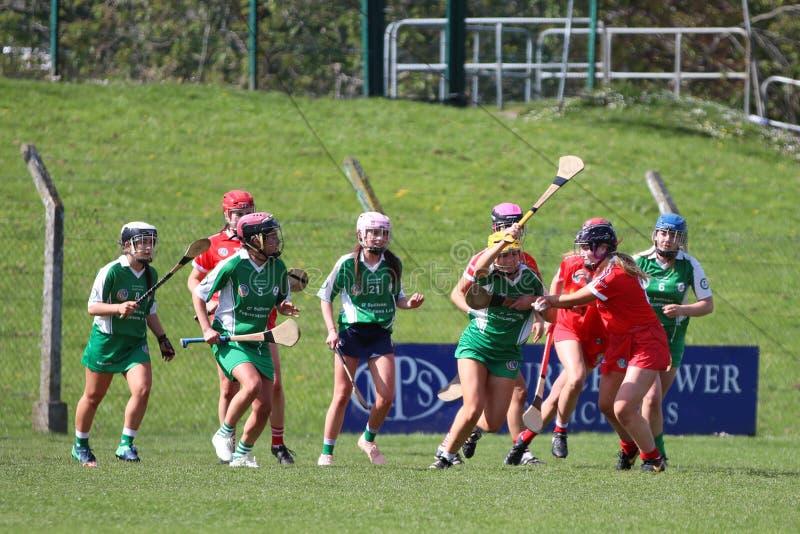 Camogie Junior Championship Semi Final - Limerick contre le li?ge images stock