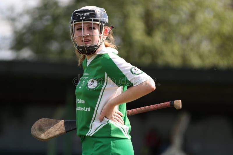 Camogie Junior Championship Semi Final - Limerick contre le li?ge photographie stock libre de droits