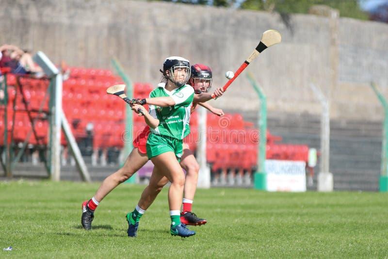 Camogie Junior Championship Semi Final - Limerick contre le li?ge photos libres de droits