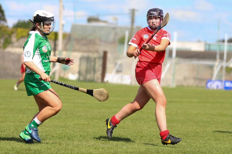 Camogie Junior Championship Semi Final - limerick vs kork royaltyfri foto