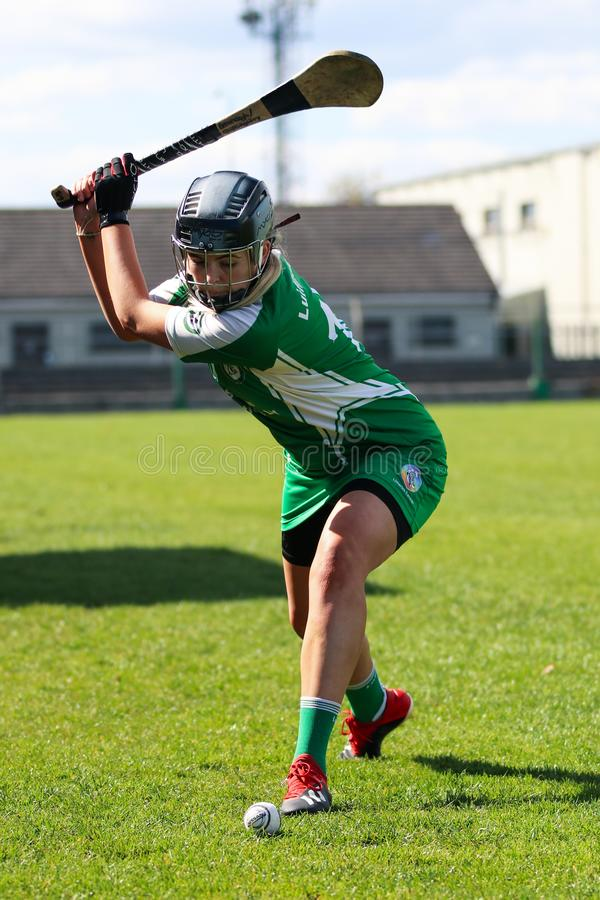 Camogie Junior Championship Semi Final - limerick vs kork royaltyfri bild