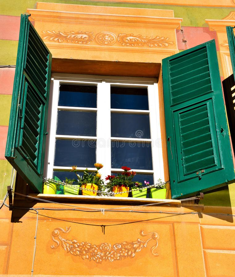 Camogli, Γένοβα, Ιταλία στοκ εικόνες