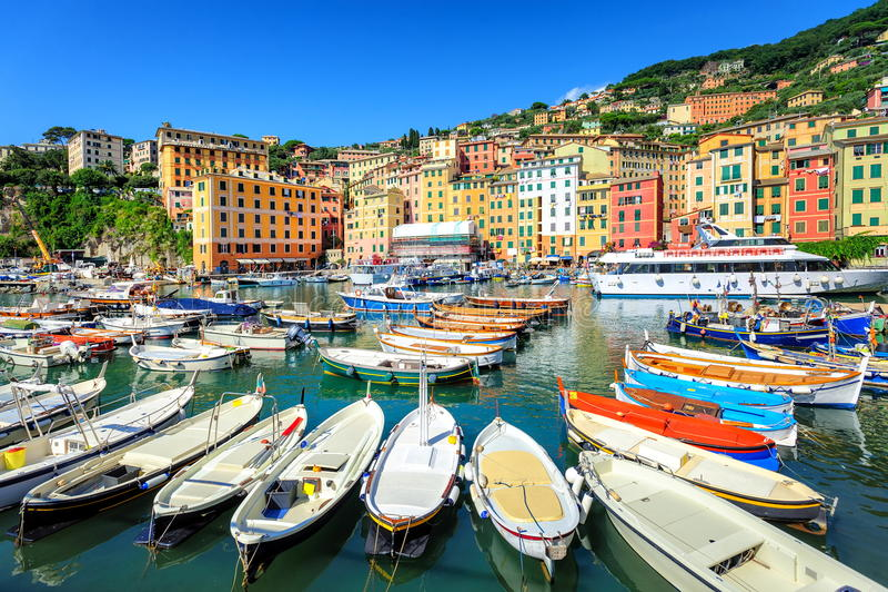 Camogli dichtbij Genua, Italië royalty-vrije stock afbeeldingen