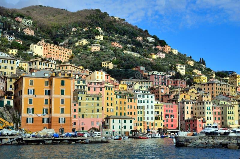 Camogli, genua, Włochy obraz royalty free