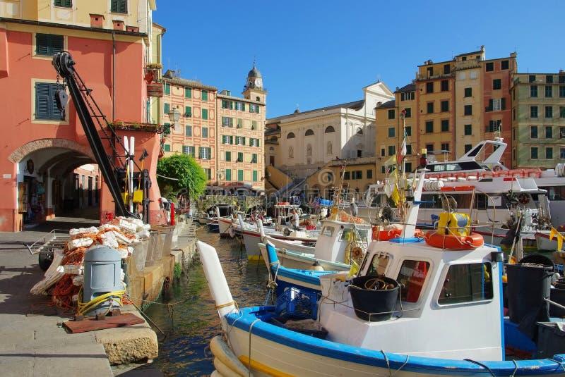 Camogli-Hafen stockbilder