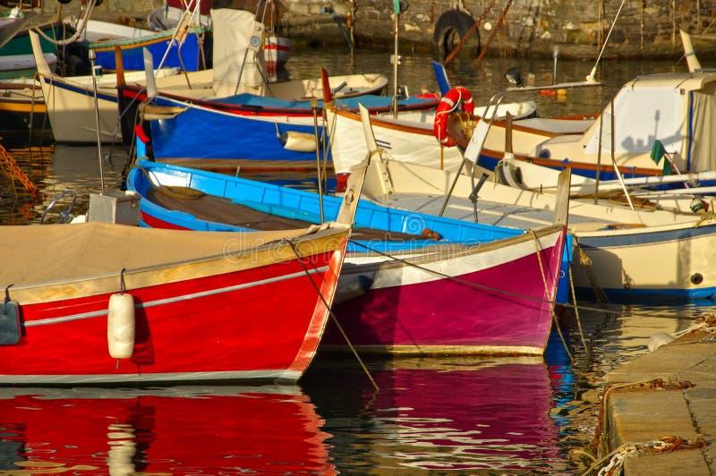 Camogli-Hafen stockfotografie