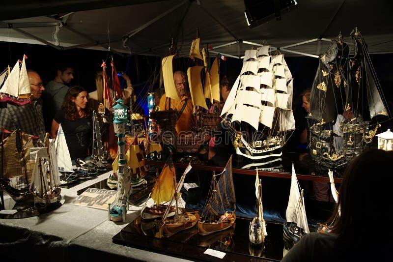 Camogli Liguria, Italien - Juni 14, 2015: Sjöfarande festival som havet där kombinerar arkivbilder
