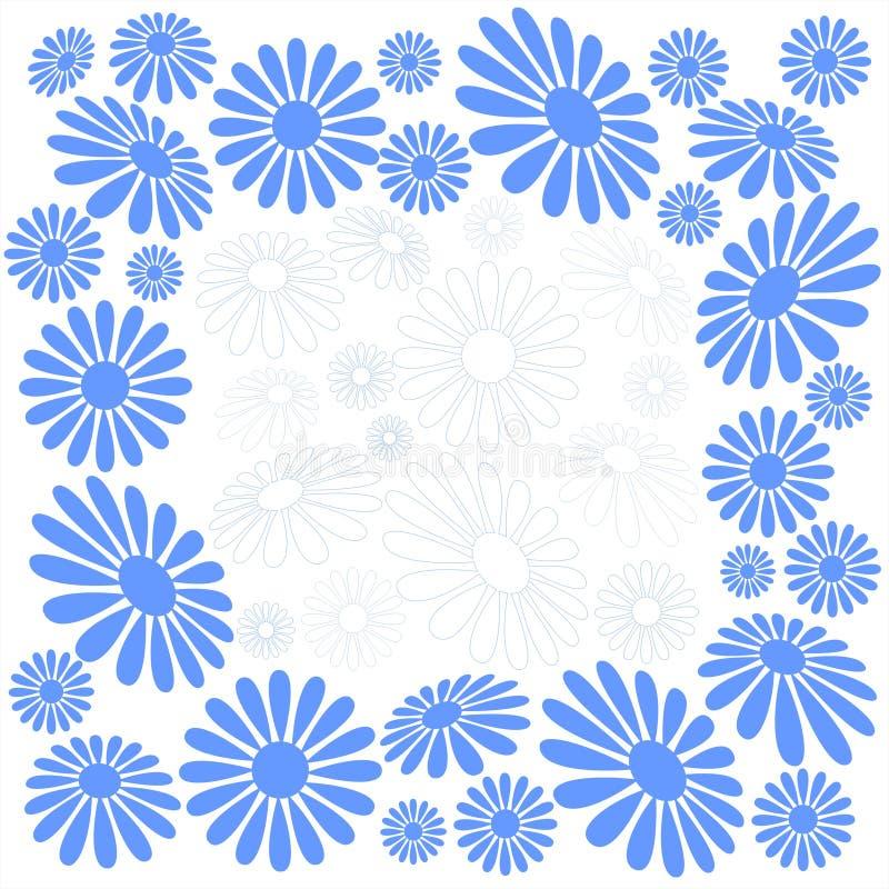 camomilas Azul-brancas ilustração do vetor