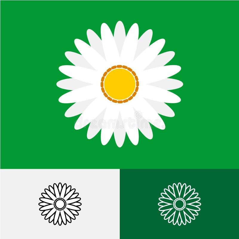 Camomile λογότυπο διανυσματική απεικόνιση