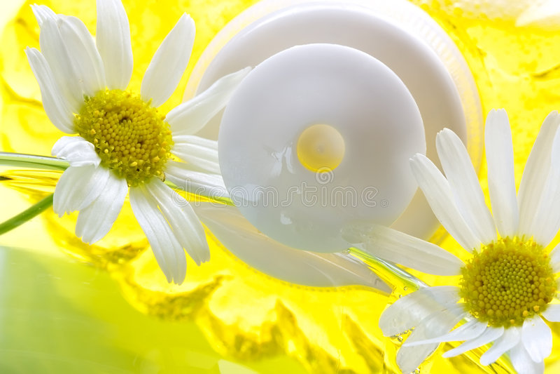 camomile λουτρών αφρός στοκ εικόνα