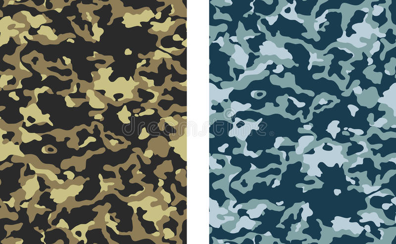 Download Camouflage stock vector. Image of colored, pattern, seamless - 27774717