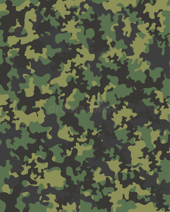 camouflage stock illustratie
