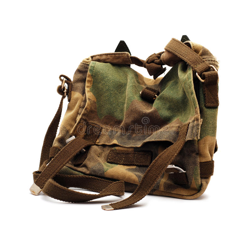 Download Camouflage bag stock photo. Image of isolated, brown - 15444444