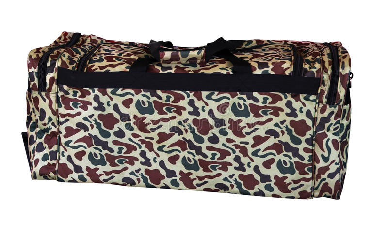 Camouflage Bag Royalty Free Stock Photography