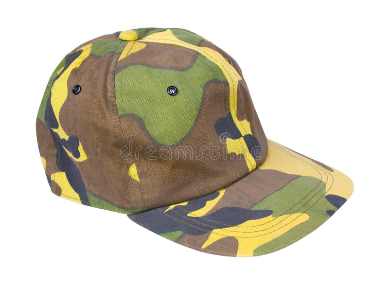 Download Camouflage cap stock image. Image of hunting, brown, military - 17061315