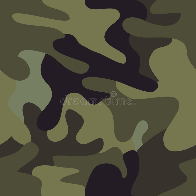 Download Camouflage Commando Army Seamless Pattern. Stock Vector - Image: 7559496