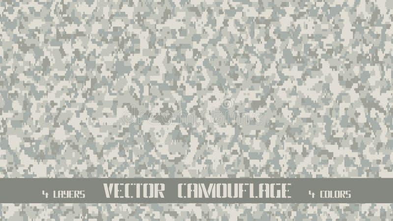 Camouflage de pixel illustration stock
