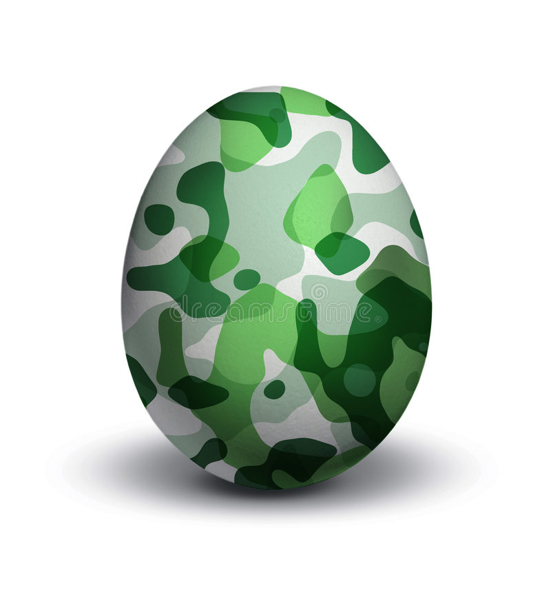 Camouflage on egg royalty free illustration