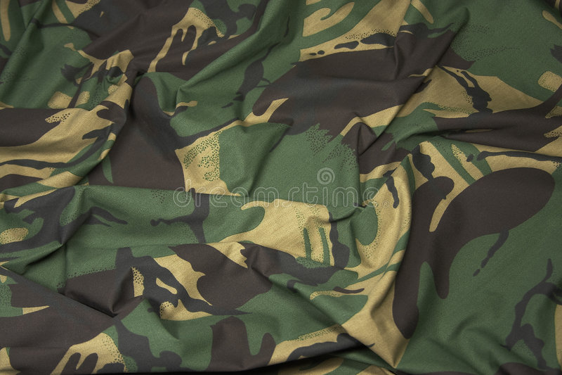 Camouflage Fabric 1 Royalty Free Stock Image
