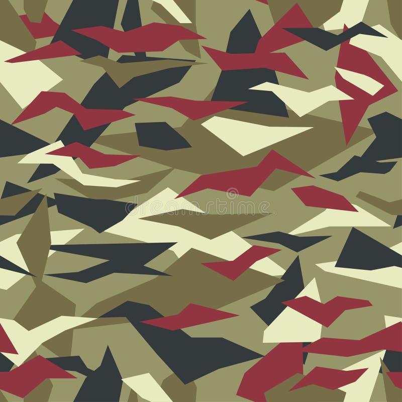 Camouflage géométrique, conception moderne de mode Protecteur militaire de Camo Soldat américain Modèle de forme de débris Couleu illustration de vecteur