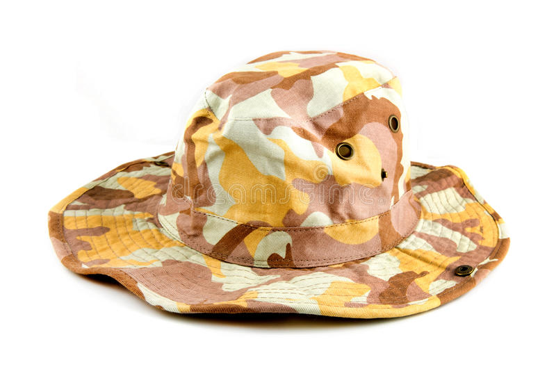 Camouflage hat stock photography