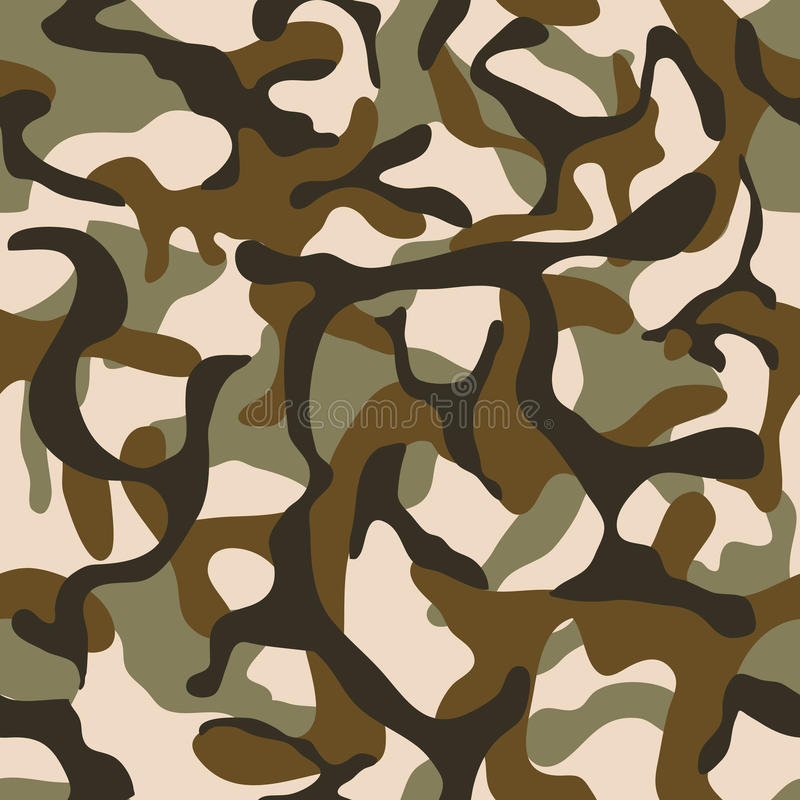 Camouflage, military camo vector seamless pattern stock illustration