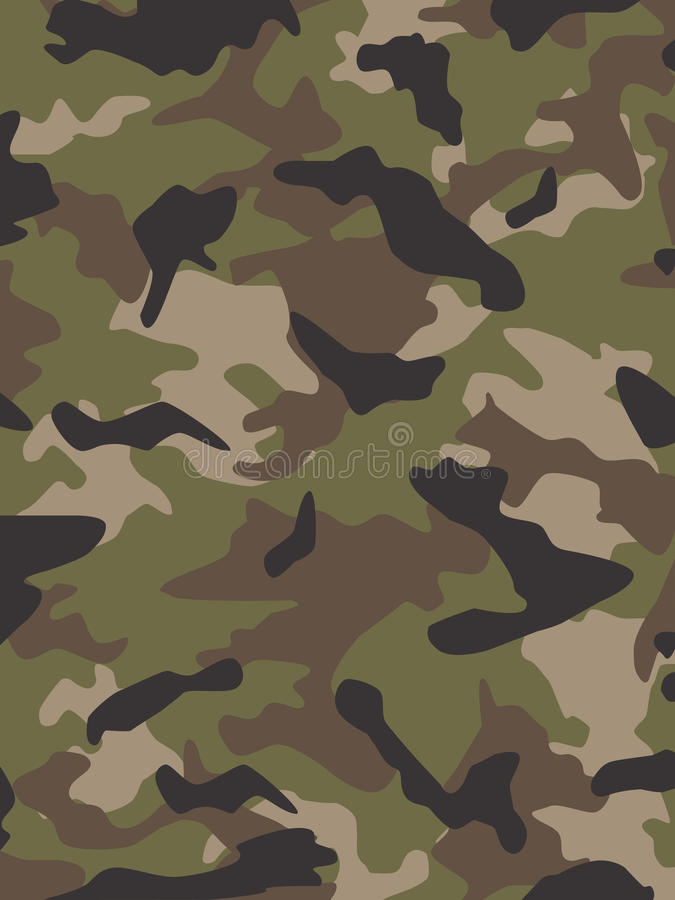 Camouflage multi de came des USA illustration stock