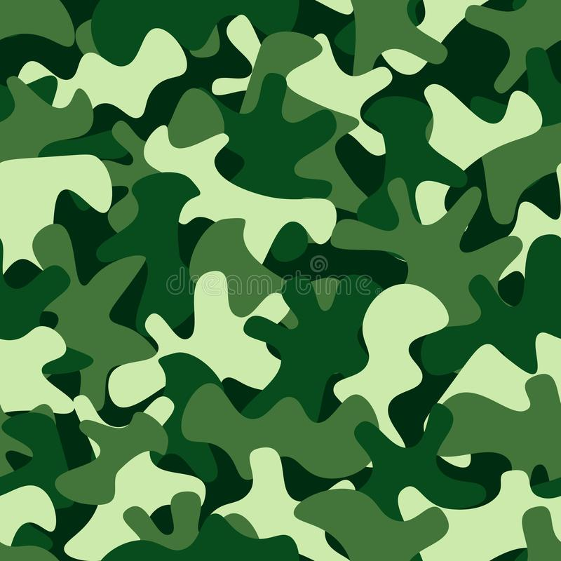 Camouflage pattern background. Classic clothing style masking camo repeat print stock illustration