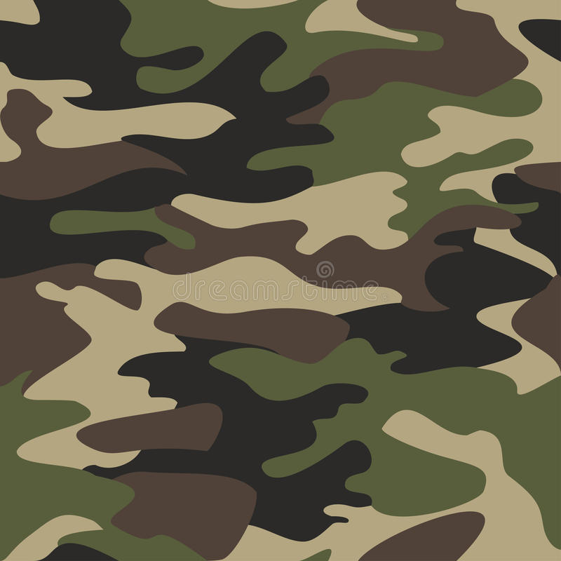Camouflage pattern background seamless illustration. Clas vector illustration