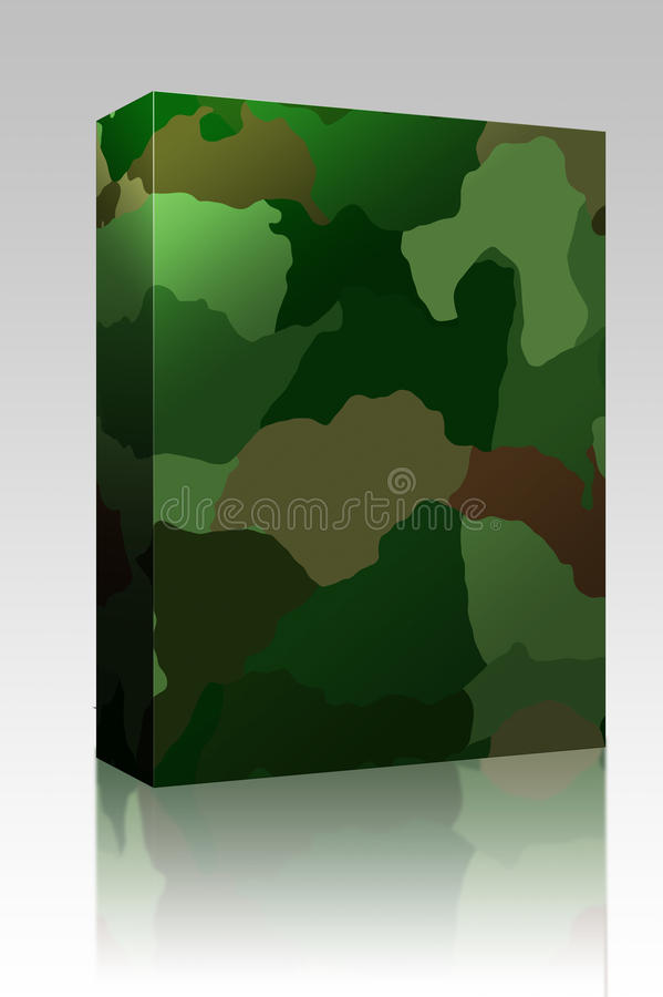 Camouflage pattern box package royalty free illustration