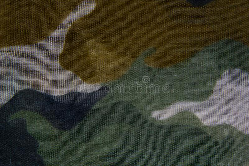 Camouflage pattern cloth texture stock image