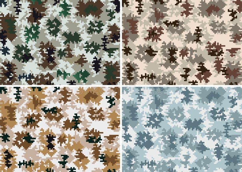 Camouflage Seamless. Vector Illustration. 4 random type vector illustration