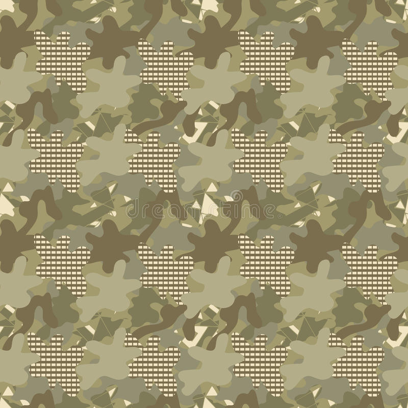 Camouflage seamless pattern stock illustration