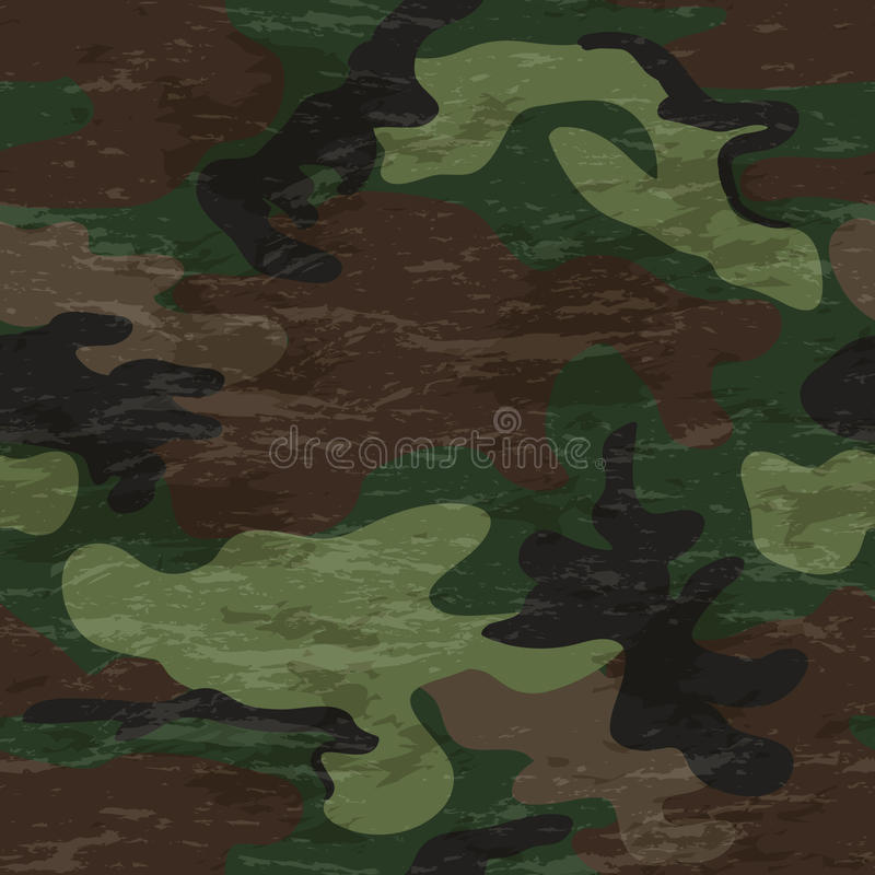 Camouflage seamless pattern vector illustration