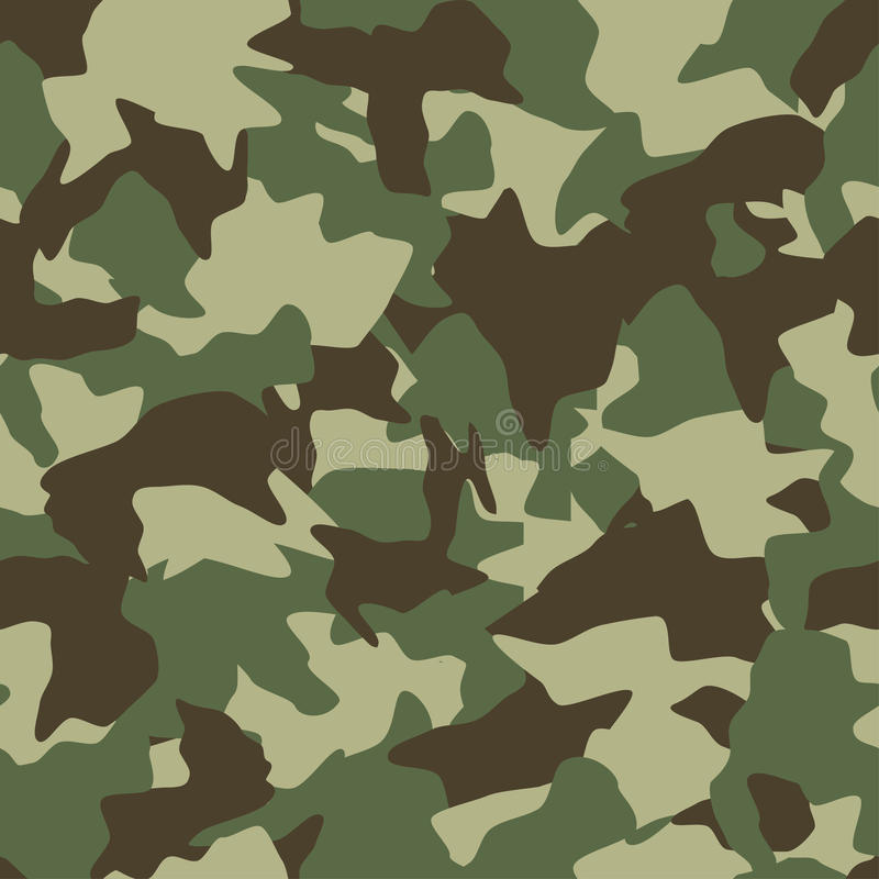 Camouflage seamless pattern. Green, brown, olive colors forest texture royalty free illustration