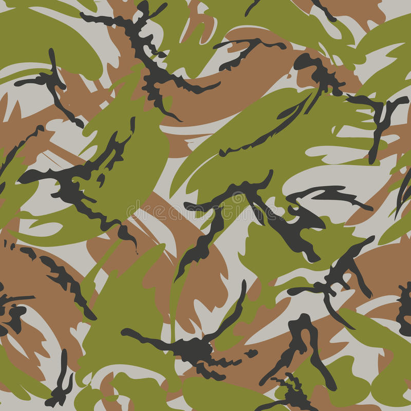 Camouflage seamless pattern. Woodland style vector illustration