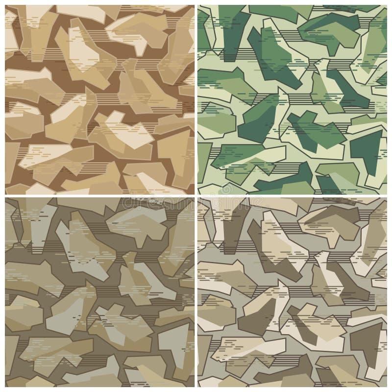 Camouflage Seamless Vector Pattern stock illustration