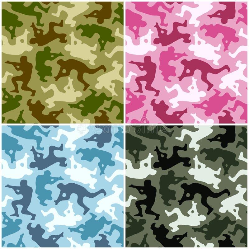 camouflage set ilustracja wektor