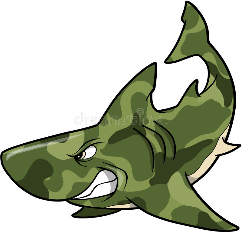 Camouflage Shark vector illustration