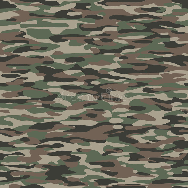 Download Camouflage Textile Pattern stock vector. Image of background - 32030916