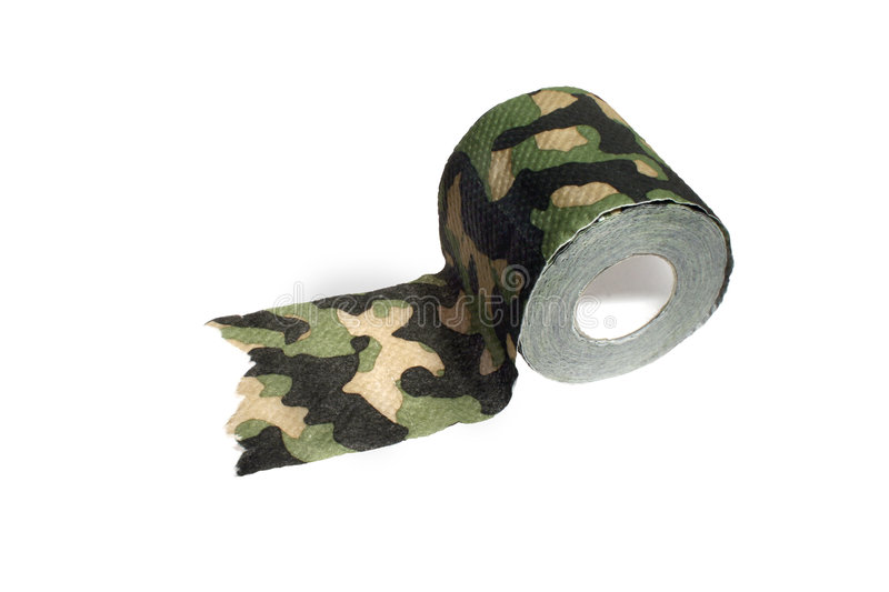 Camouflage Toilet Paper Royalty Free Stock Images