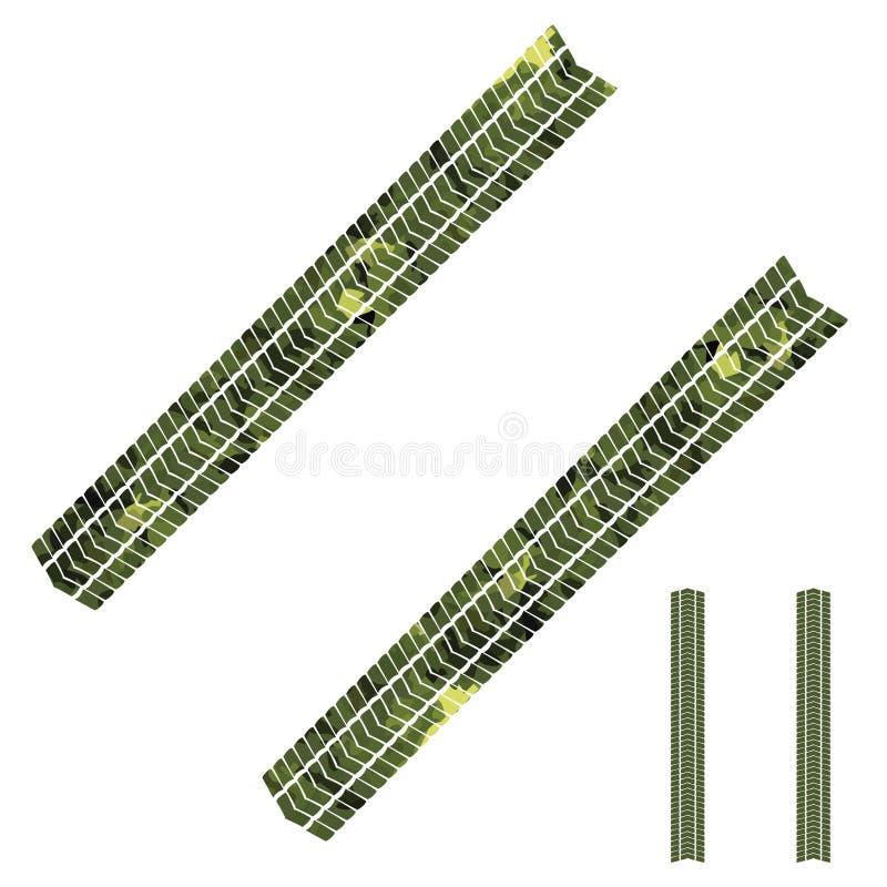 Camouflage tyre tracks stock illustration